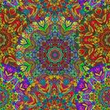 Nahtloses Muster mit farbiger Mandala Stockfotografie