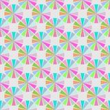 Nahtloses Muster mit Farbkreisform Lizenzfreie Stockfotografie