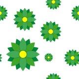 Nahtloses Muster mit Farbpapierblumen Lizenzfreie Abbildung