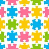 Nahtloses Muster mit Farbpuzzlespiel vektor abbildung