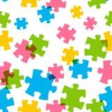 Nahtloses Muster mit Farbpuzzlespiel stock abbildung