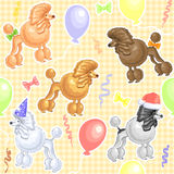 Nahtloses Muster mit Feiertagshunden Stockfotografie
