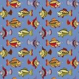 Nahtloses Muster mit Fischen Lizenzfreies Stockbild