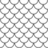 Nahtloses Muster mit Fischhaut entziehen Sie Hintergrund Auch im corel abgehobenen Betrag stock abbildung