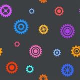 Nahtloses Muster mit flachen Gängen Einfacher technischer Hintergrund Lizenzfreies Stockbild