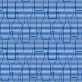 Nahtloses Muster mit Flaschen Stockbilder