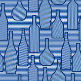 Nahtloses Muster mit Flaschen Stockfotografie
