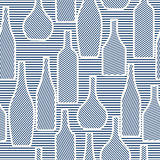 Nahtloses Muster mit Flaschen Stockfotos