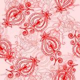 Nahtloses Muster mit Folkloreblumen lizenzfreie abbildung