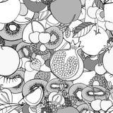 Nahtloses Muster mit Früchten vektor abbildung