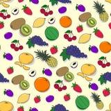 Nahtloses Muster mit Früchten und Beeren Lizenzfreie Stockbilder