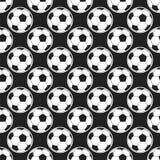 Nahtloses Muster mit Fußballvektor Stockfotos