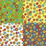 Nahtloses Muster mit Gekritzel cicrles Lizenzfreie Stockfotografie