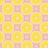 Nahtloses Muster mit gelben Blumen Lizenzfreie Abbildung