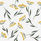 Nahtloses Muster mit gelben Blumen Stockfoto