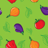 Nahtloses Muster mit Gemüse Stockfotos