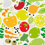 Nahtloses Muster mit Gemüse Lizenzfreies Stockbild
