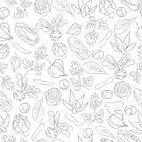 Nahtloses Muster mit Gemüse Lizenzfreies Stockfoto