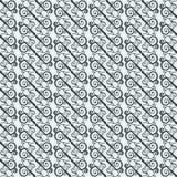 Nahtloses Muster mit geometrisch vereinbarten Locken Stilisierte orientalische Verzierung vektor abbildung