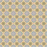 Nahtloses Muster mit geometrischem Muster lizenzfreie abbildung