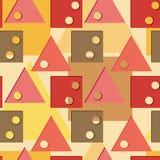 Nahtloses Muster mit geometrischen Abbildungen. Lizenzfreie Stockfotografie