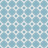 Nahtloses Muster mit geometrischen Diamantformen und -blumen. Lizenzfreie Abbildung