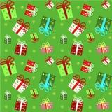 Nahtloses Muster mit Geschenk Stockbilder