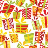 Nahtloses Muster mit Geschenkkästen vektor abbildung