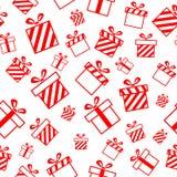 Nahtloses Muster mit Geschenkkästen stock abbildung