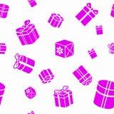 Nahtloses Muster mit Geschenkkästen Lizenzfreie Stockfotografie