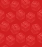 Nahtloses Muster mit Geschenkkästen Stockfoto
