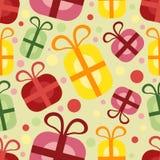 Nahtloses Muster mit Geschenkkasten Lizenzfreie Stockfotografie