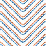 Nahtloses Muster mit gestreckten Winkeln Gebogene Threads und Seile Optische Täuschung der Bewegung Lizenzfreie Stockfotografie