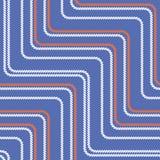 Nahtloses Muster mit gestreckten Winkeln Gebogene Threads und Seile Optische Täuschung der Bewegung Stockbild