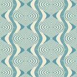 Nahtloses Muster mit gestreiften Formen Stockbilder