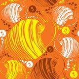 Nahtloses Muster mit gestreiften Schnecken und Blumen Lizenzfreies Stockbild