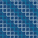 Nahtloses Muster mit gewellten Formen Gebogene Threads und Seile Optische Täuschung der Bewegung Lizenzfreie Stockbilder