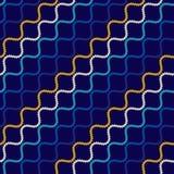 Nahtloses Muster mit gewellten Formen Gebogene Threads und Seile Optische Täuschung der Bewegung Stockfoto