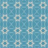Nahtloses Muster mit 6 gezeigten Sternen Stockbild