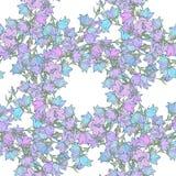 Nahtloses Muster mit Glockenblumen Muster 08 Stockbilder