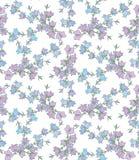 Nahtloses Muster mit Glockenblumen Muster 08 Stockbild