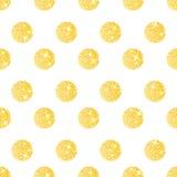Nahtloses Muster mit goldenen Kreisen Lizenzfreie Stockfotos