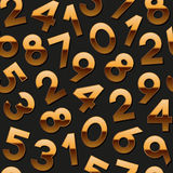 Nahtloses Muster mit goldenen Zahlen Lizenzfreie Stockfotos