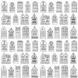 Nahtloses Muster mit Häusern Lizenzfreie Stockbilder