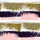 Nahtloses Muster mit Hand gezeichneten Bürstenanschlägen Stockbild