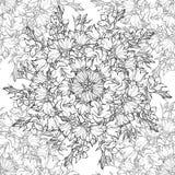 Nahtloses Muster mit Hand gezeichneten Glockenblumen Stockbild