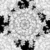 Nahtloses Muster mit Hand gezeichneten Glockenblumen Lizenzfreies Stockbild