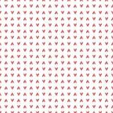 Nahtloses Muster mit Hand gezeichneten Herzen Lizenzfreie Stockfotografie