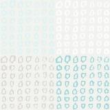 Nahtloses Muster mit Hand gezeichneten Pentagonen Lizenzfreie Stockfotos