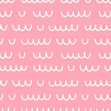 Nahtloses Muster mit Hand gezeichneten Wellen Stockfotos